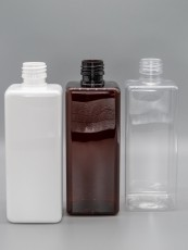 500 ml PET Vierkantflasche Klar