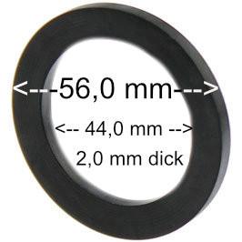 Flachdichtung 56 x 44 x2 mm