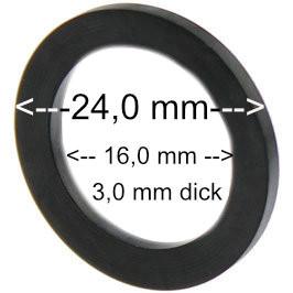 flachdichtung 24x16x3 mm
