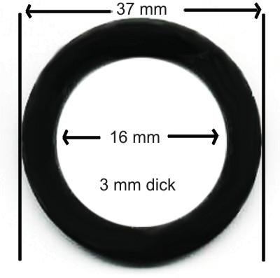 Flachdichtung, Gummidichtung 3 mm dick, 10 mm Kranz