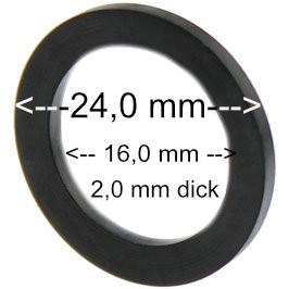 Flachdichtung 24 x 16 x 2 mm