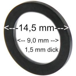 Flachdichtung 14,5 x 9,0 x 1,5 mm