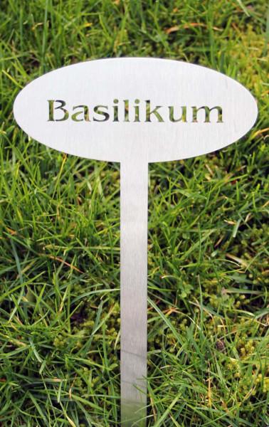 Pflanzenschild Edelstahl Basilikum
