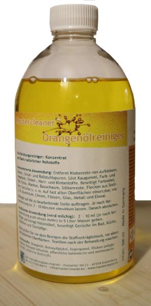 Orangenöl, Reiniger, Entfetter, Orangenduft,0,50l