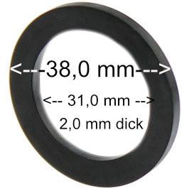 Flachdichtung 38 x 31 x 2 mm
